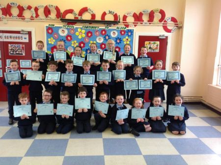 Accelerated Reader and Bug Club award winners.